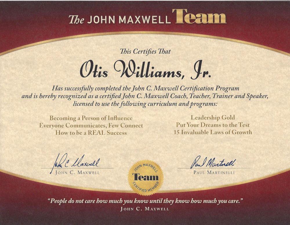 The John Maxwell Team Otis Williams